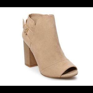 Open toed booties